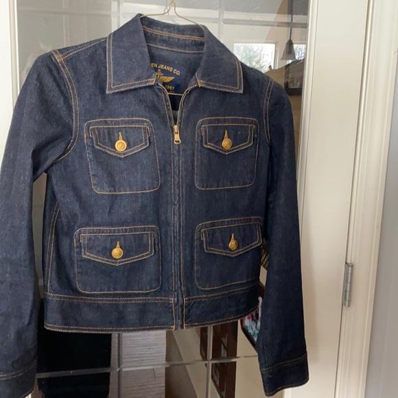 Lauren Jeans Co nautical button jean jacket